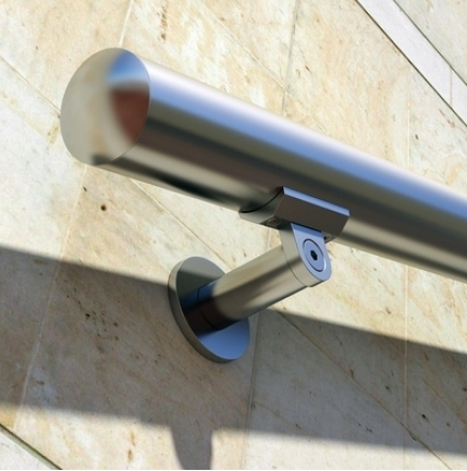 Anodized aluminum handrail stairs kit stainless steel look