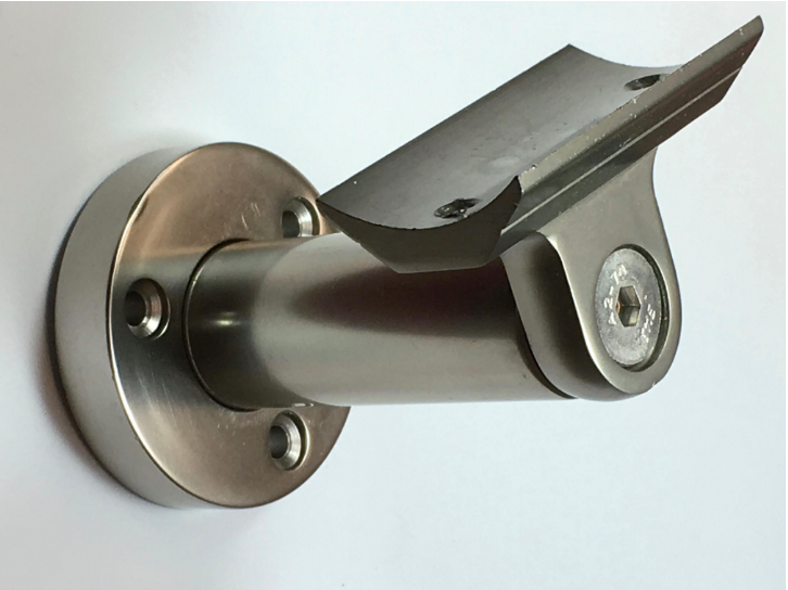 Anodized aluminum handrail stairs kit stainless steel look rail